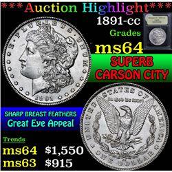 1891-cc . . Morgan Dollar $1 Grades Choice Unc