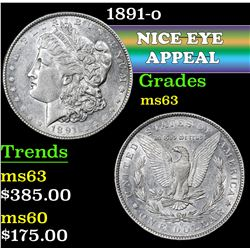 1891-o . . Morgan Dollar $1 Grades Select Unc