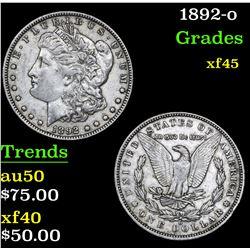 1892-o . . Morgan Dollar $1 Grades xf+