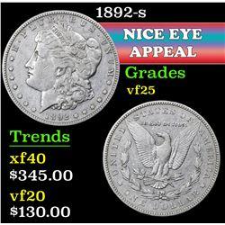 1892-s . . Morgan Dollar $1 Grades vf+