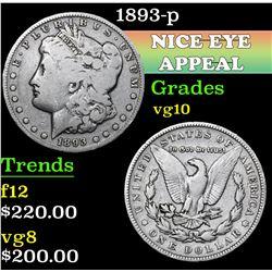 1893-p . . Morgan Dollar $1 Grades vg+