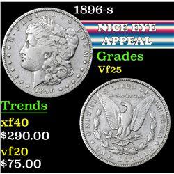 1896-s . . Morgan Dollar $1 Grades vf+