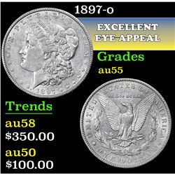 1897-o . . Morgan Dollar $1 Grades Choice AU