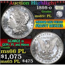1898-o . . Morgan Dollar $1 Grades GEM+ PL
