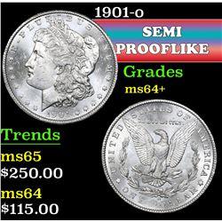 1901-o . Semi PL Morgan Dollar $1 Grades Choice+ Unc