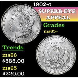 1902-o . . Morgan Dollar $1 Grades GEM+ Unc