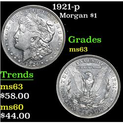 1921-p . . Morgan Dollar $1 Grades Select Unc