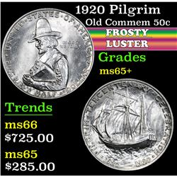1920 Pilgrim . Old Commem Half Dollar 50c Grades GEM+ Unc