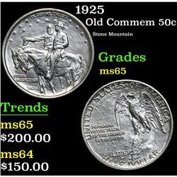 1925 Stone Mountain . Old Commem Half Dollar 50c Grades GEM Unc