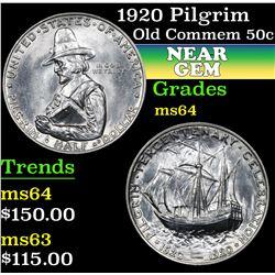 1920 Pilgrim . . Old Commem Half Dollar 50c Grades Choice Unc