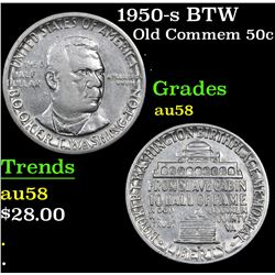 1950-s BTW . . Old Commem Half Dollar 50c Grades Choice AU/BU Slider