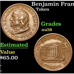Benjamin Franklin Token . . Benjamin Franklin Token 1c Grades Choice AU/BU Slider