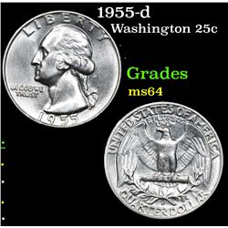 1955-d . . Washington Quarter 25c Grades Choice Unc