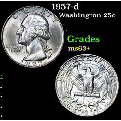 1957-d . . Washington Quarter 25c Grades Select+ Unc