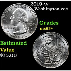 2019-w . . Washington Quarter 25c Grades Select+ Unc