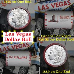$20 Morgan & Peace Bank style Roll Stamped Sahara Hotel & Casino Las Vegas