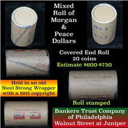 Morgan & Peace $1 Mixed Roll Steel Strong Shotgun Wrapper w/Covered Ends