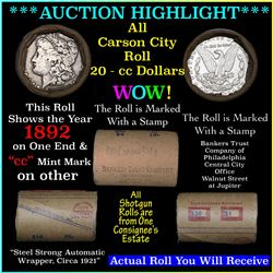 ***Auction Highlight*** Solid Carson City Morgan dollar roll ends 1892 one end 'cc' rev other end, a