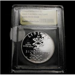 2002-p Olympic Salt Lake Proof Modern Commem Dollar $1 Graded GEM++ Proof Deep Cameo by USCG