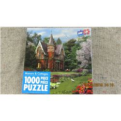 """LIKE NEW - 1000 PIECE """"MANORS & COTTAGES"""" PUZZLE"""