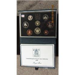 1986 UNITED KINGDOM PROOF MINT COIN SET