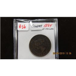 1884 CANADA VICTORIAN LARGE PENNY