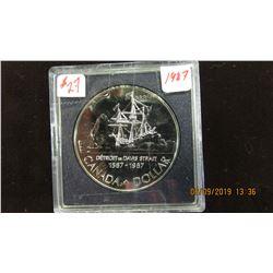 1987 CANADA DAVIS STRAIGHT SILVER DOLLAR