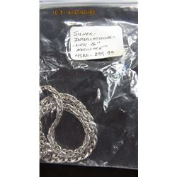"SILVER INTERLOCKING LINK 16"" NECKLACE"