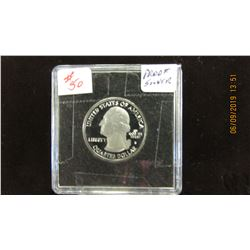2013 PROOF CAMEO GEORGE WASHINGTON STATE OF OHIO SILVER QUARTER