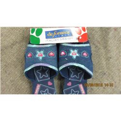 NEW - DEFONSECA (ITALY) GIRLS DENIM FLORAL SANDALS