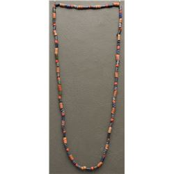 SINGLE STRAND GLASS TRADE BEAD  NECKLACE