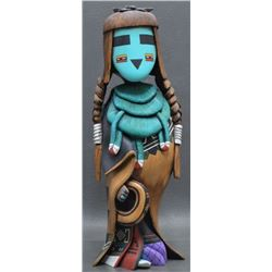 HOPI INDIAN KACHINA (QUOTSKUYVA)