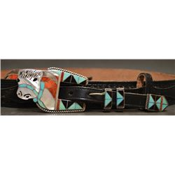 ZUNI RANGER BUCKLE AND WESTERN BELT (HELEN ZUNNIE)