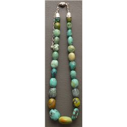 CHINESE TURQUOISE BEAD NECKLACE
