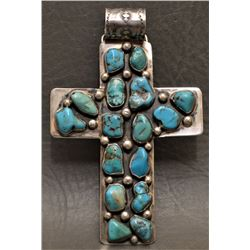 NAVAJO INDIAN CROSS PENDENT (SANDOVAL)