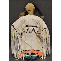 SIOUX INDIAN BEADED HIDE DOLL