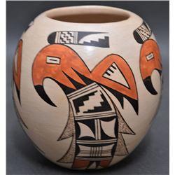 HOPI INDIAN POTTERY JAR ( IRMA DAVIS)