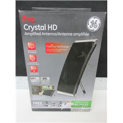 New GE Pro Crystal HD Amplified Antenna - get free local Tv full HD1080P