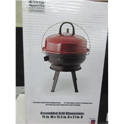 Backyard Grill BBQ - portable Charcoal 14.5 inch Dome Grill