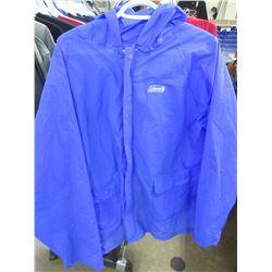 New Coleman Rain Coat with hood size L - XL