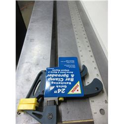 New 24 inch Quick ratcheting Bar Clamp & Spreader