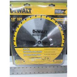 New DeWalt 12 inch 32 carbide tooth , thin kerf general purpose Blade