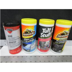 4 Assorted Car Care Wipes / Armor All and more