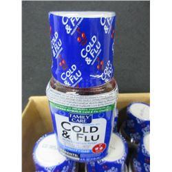 18 New Cold & Flu 4 floz bottles Cherry flavor / 2019 exp