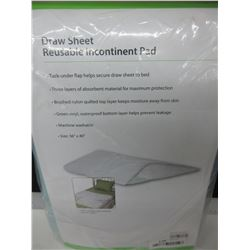 "New Draw Sheet Reusable Incontinent Pad / machine wash / 36"" x 40"""