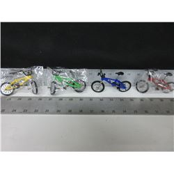 4 Mini Collector BMX Bikes / with working parts