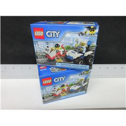 2 LEGO City ATV Police sets