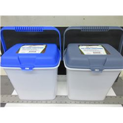 2 Pet Food Containers 2 gallon / keeps food fresh and pests out