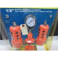 "New 1/2"" Air Line -  Air Filter , Regulator & Lubricator"