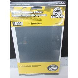 New 10 packs of Gator Grit Waterproof Sandpaper / 6 per pack/ 60 total